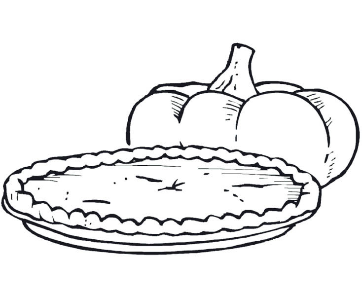 Pumpkin Pie Food Coloring Pages Pumpkin Pie Food Coloring Pages