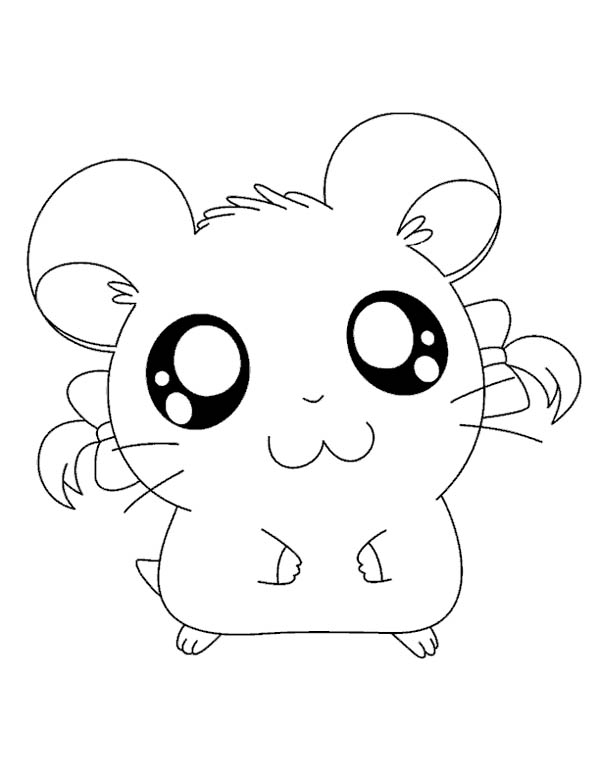 Big Eyed Hamtaro Coloring Pages Big Eyed Hamtaro Coloring Pages