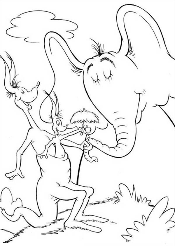 Horton Hears A Who Coloring Page Coloring Pages Ideas Reviews