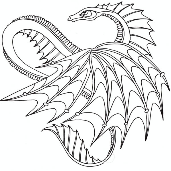 Awesome Dragon From How To Train Your Coloring Pages Bulk Color