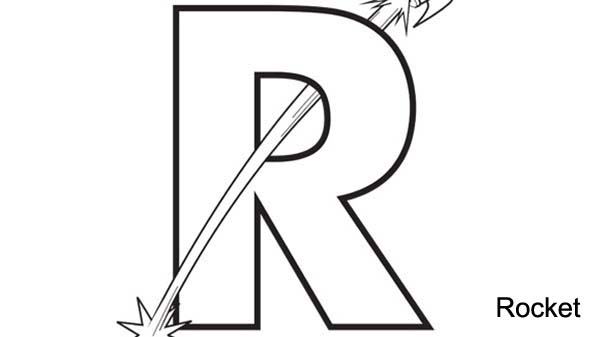 Learn Big Letter R Coloring Page Learn Big Letter R Coloring Page