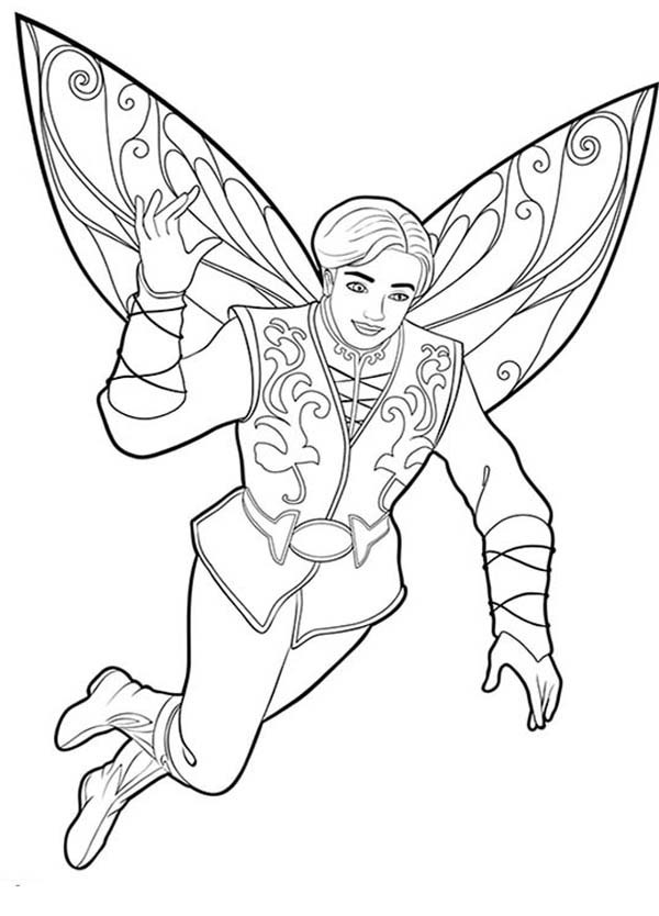 Prince Carlos Look Great In Barbie Mariposa Coloring Pages