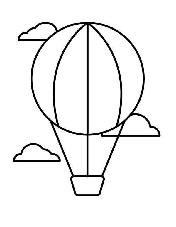 Hot Air Balloon, : Amazing Hot Air Balloon Coloring Pages