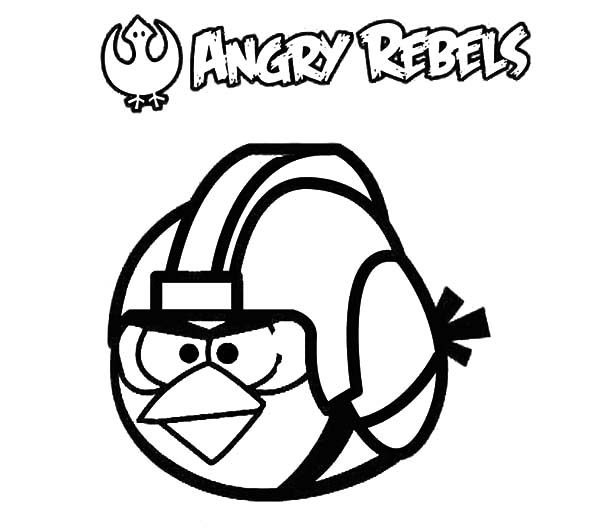 Angry Bird Star Wars, : Angry Bird Star Wars Coloring Pages