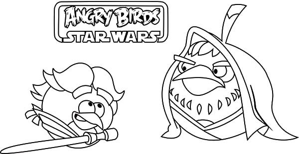 Angry Bird Star Wars, : Angry Bird Star Wars Teach Me Master Coloring Pages