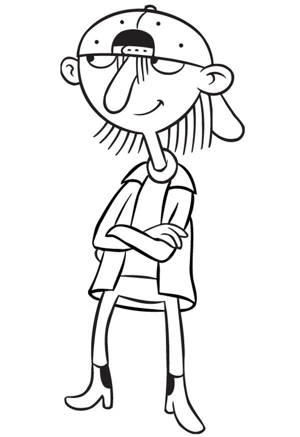 Hey Arnold, : Arnold School Mate Sid in Hey Arnold Coloring Pages