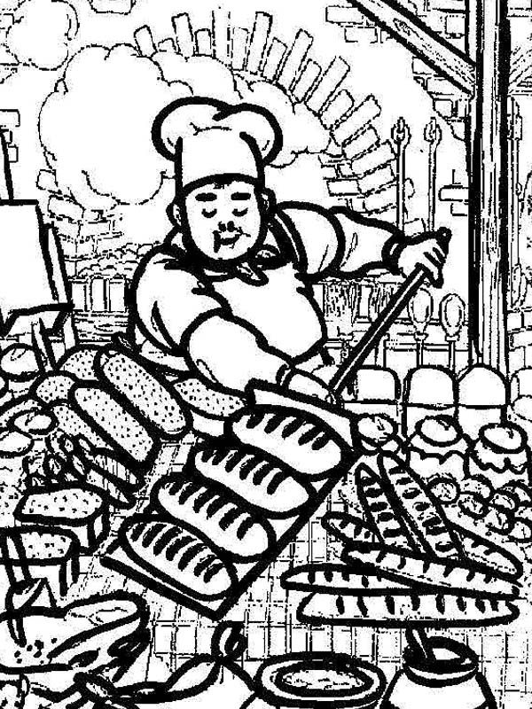 Bakery, : Awesome Picture of Bakery Chef Coloring Pages