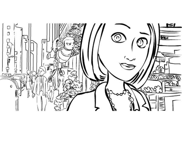 Bee Movie Coloring Pages For Kids KidsFull