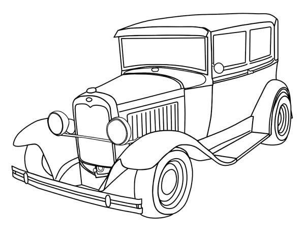 Classic Cars, : Classic Cars Coloring Pages