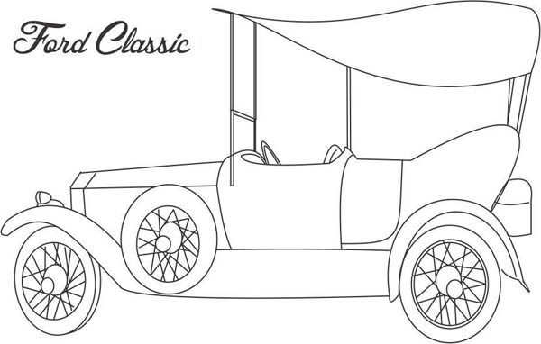 Classic Cars, : Classic Cars Coloring Pages Ford Classic
