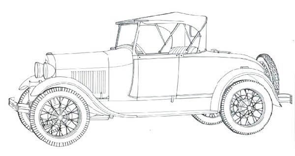 Classic Cars, : Classic Cars Coloring Pages Model A Ford