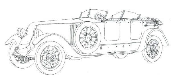 Classic Cars, : Classic Cars Coloring Pages Renault