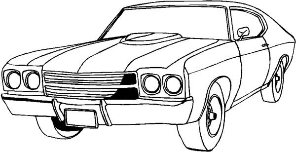 Classic Cars Coloring Pages for Kids  Bulk Color