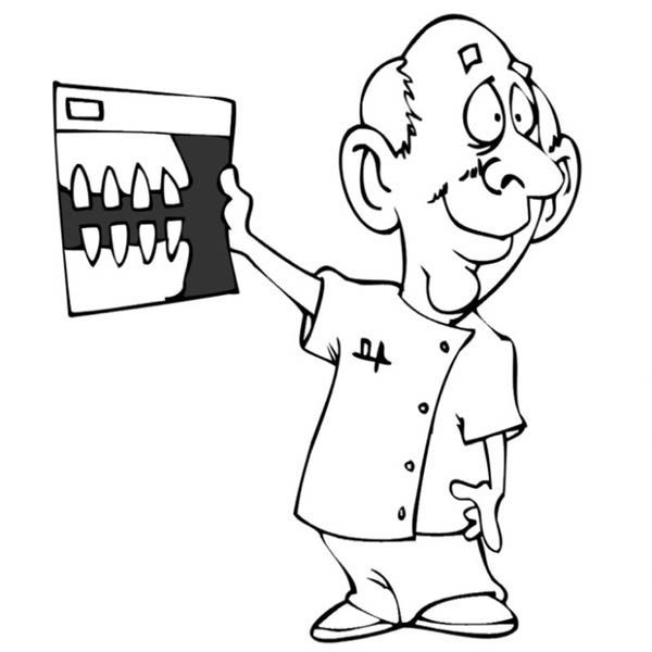 Dentist, : Dentist Show Patient Teeth Coloring Pages