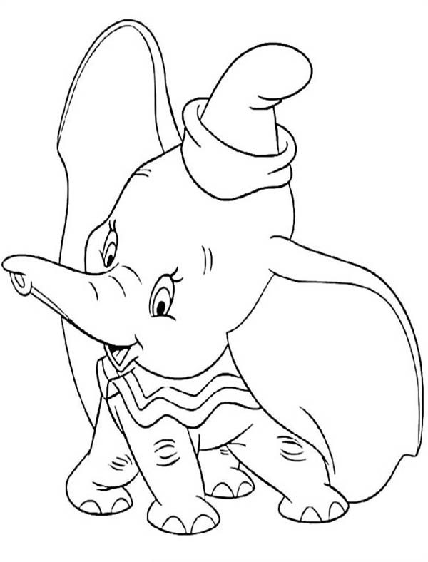 disney dumbo the elephant coloring pages - Dumbo Elephant Coloring Pages