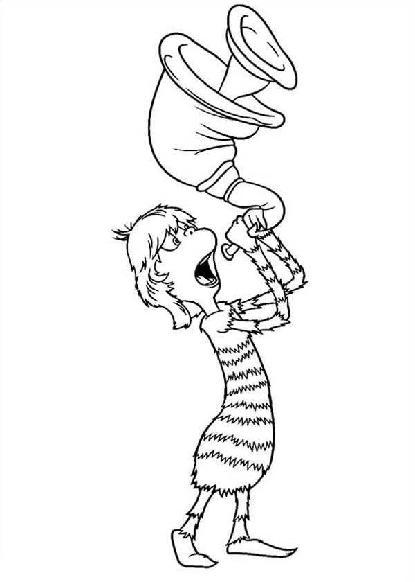 Horton, : Dr Mary Lou LaRue Blowing Horn in Horton Hears a Who Coloring Pages