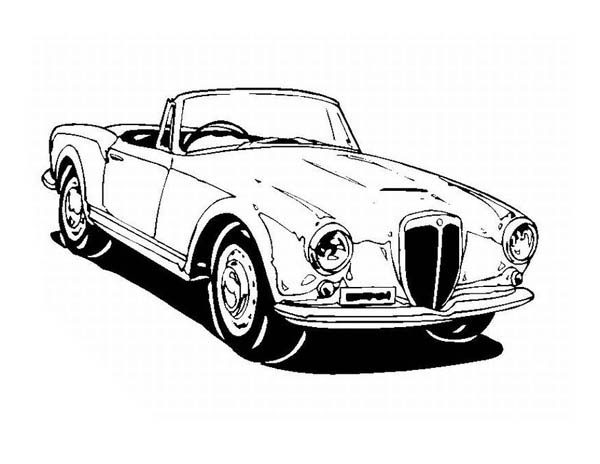 Classic Cars, : Drawing Classic Cars Coloring Pages
