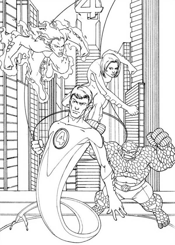 Fantastic Four, : Fantastic Four the Movie Coloring Pages