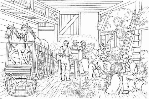 Farm Life, : Farm Life Coloring Pages Activity at Big Barn