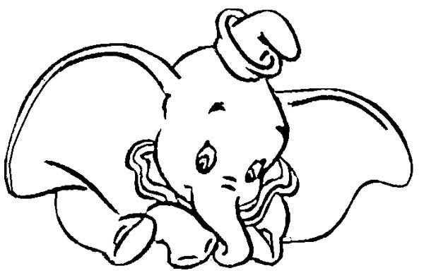 dumbo the elephant funny dumbo the elephant coloring pages - Dumbo Elephant Coloring Pages