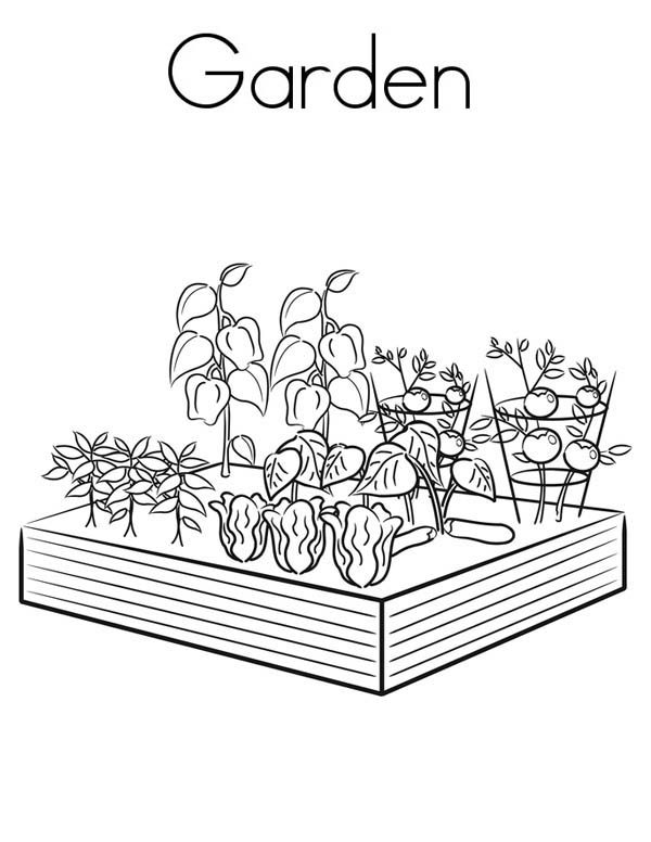 Gardening, : Gardening Coloring Pages for Kids