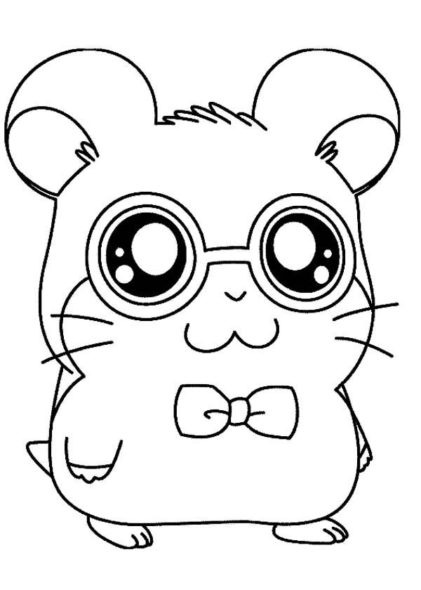 Hamtaro, : Hamtaro is Going to Party Coloring Pages