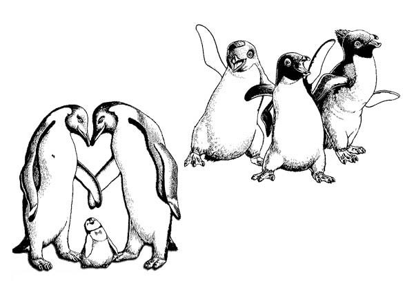 Happy Feet, : Happy Feet Coloring Pages for Kids
