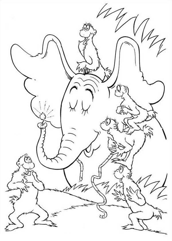 Horton, : Horton Hears a Who Meet Wickershams Coloring Pages