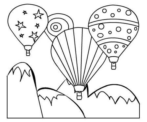 Hot Air Balloon Festival Coloring Pages  Bulk Color