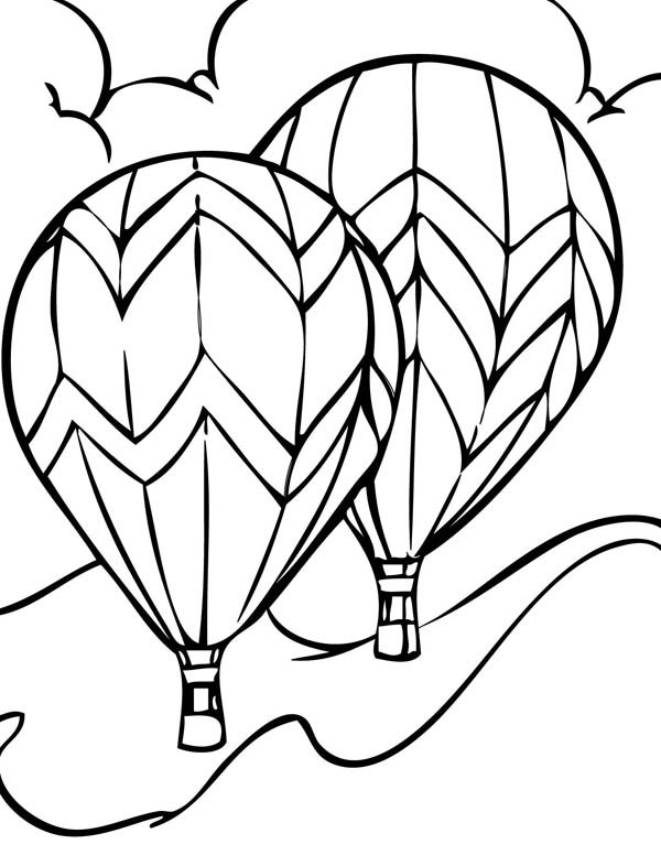 Hot Air Balloon, : Hot Air Balloon Show Coloring Pages 2