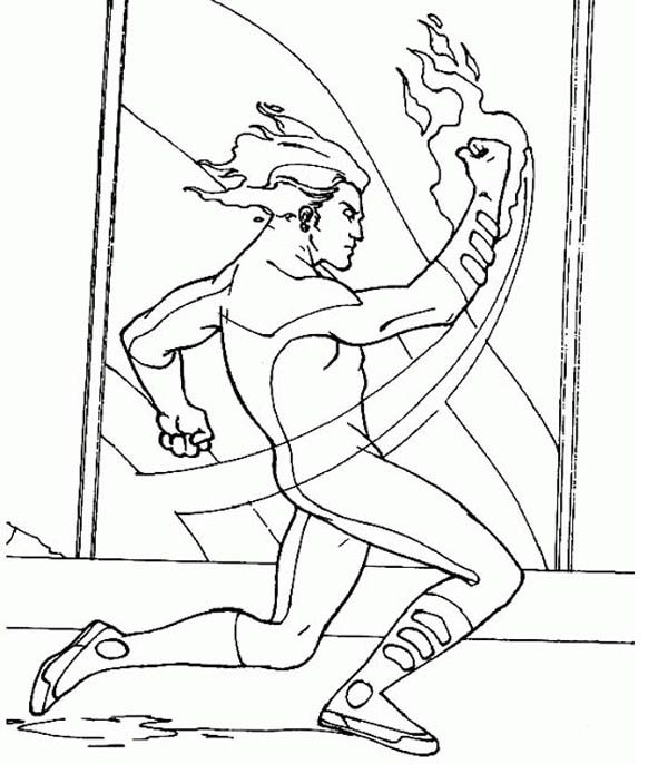 the human torch coloring pages - photo#23