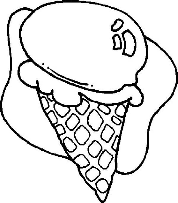 ice cream food coloring pages - Food Coloring Pages