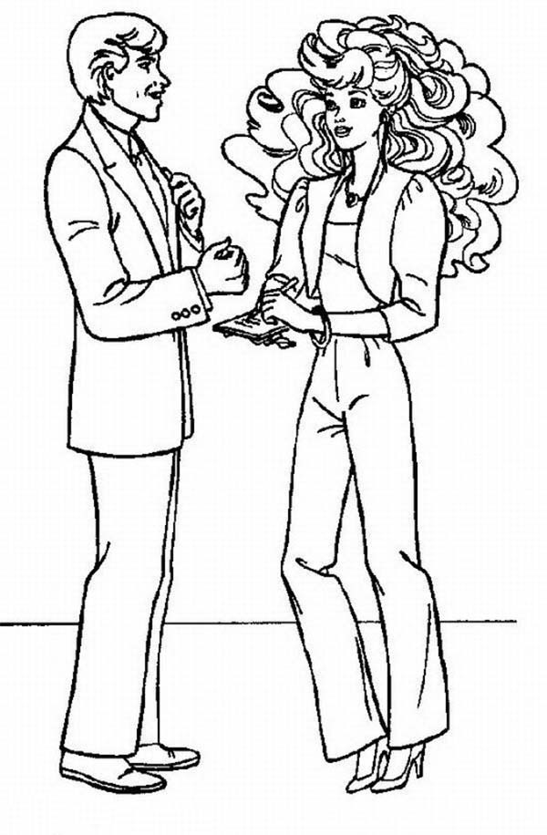 Barbie, : Ken Ask Barbie to Marry Him Coloring Pages