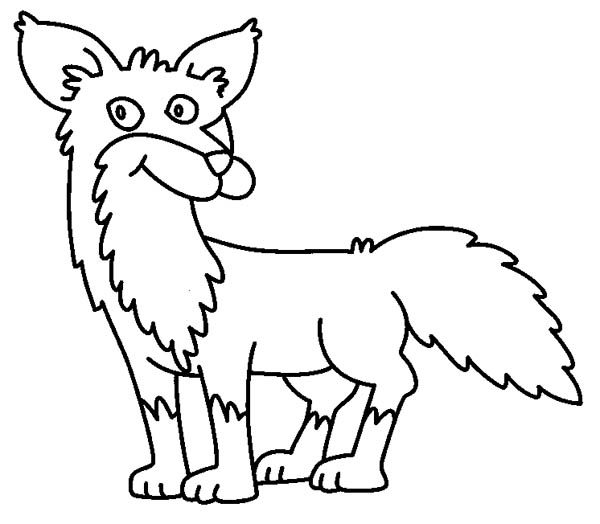 Fox, : Kids Drawing Fox Coloring Pages