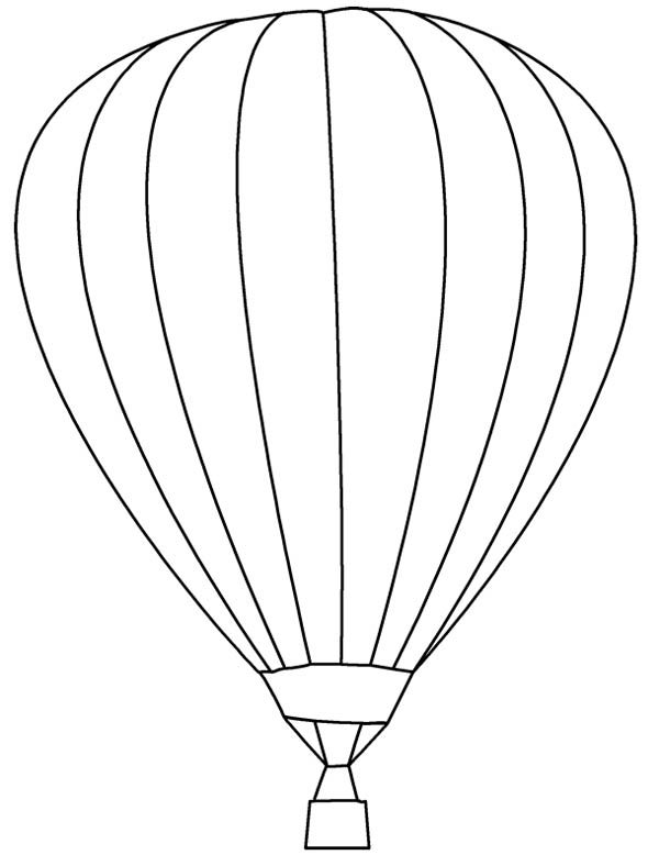 learn about hot air balloon coloring pages - Hot Air Balloon Pictures Color