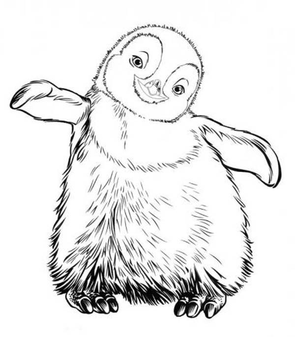 Happy Feet, : Little Erik from Happy Feet Coloring Pages