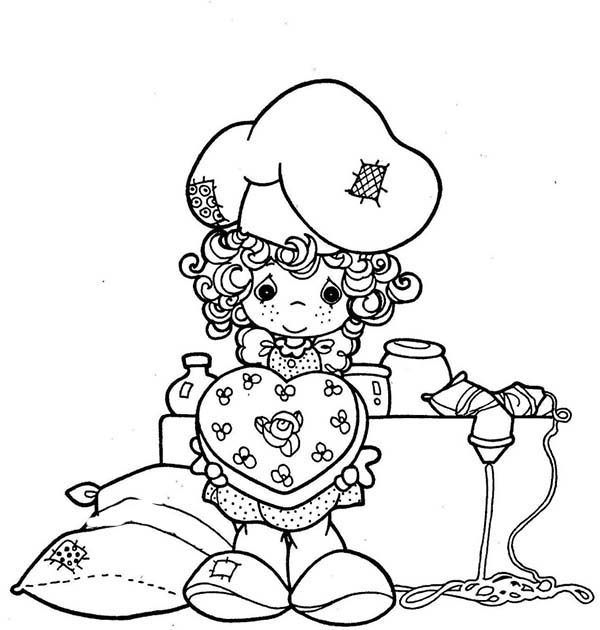 Bakery, : Little Girl Show Her Lovely Cake in Bakery Coloring Pages