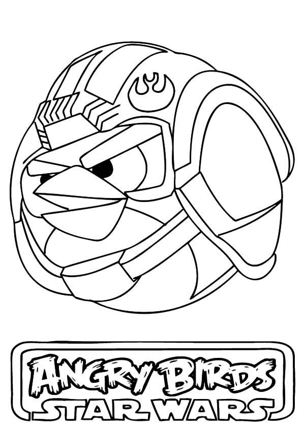 Luke Skywalker Angry Bird Star Wars Coloring Pages