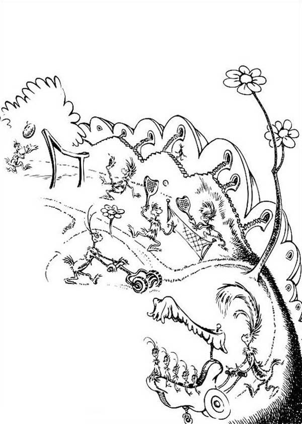 Horton, : Picture of Horton Hears a Who Coloring Pages