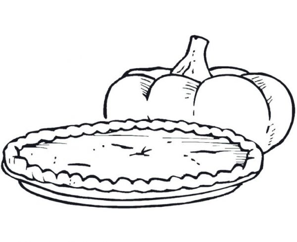 Foods, : Pumpkin Pie Food Coloring Pages