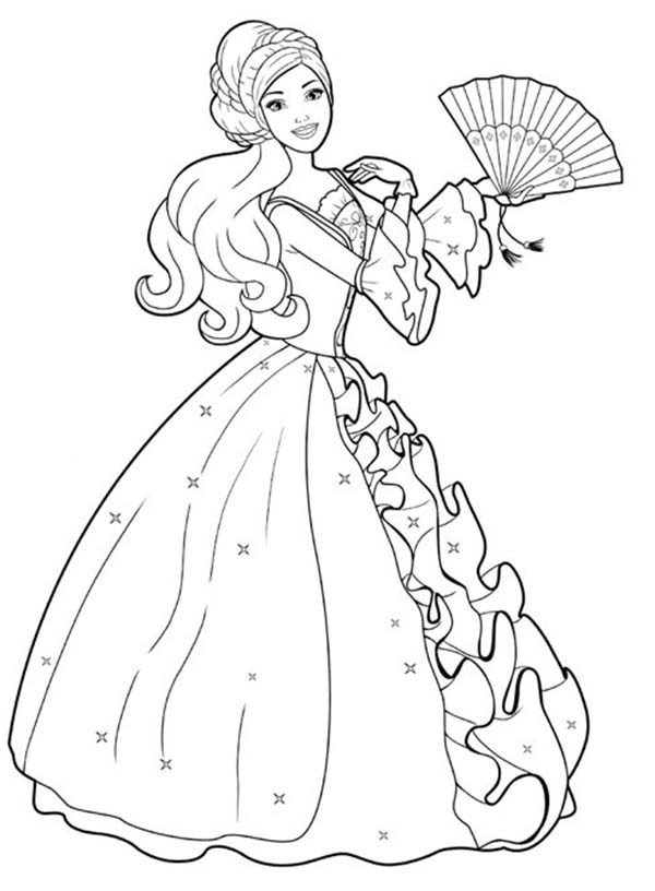 Royal Highness Barbie Coloring Pages Bulk Color