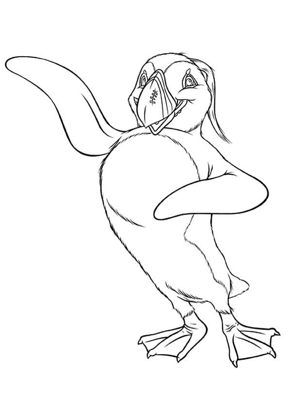 Happy Feet, : The Mighty Sven from Happy Feet Coloring Pages