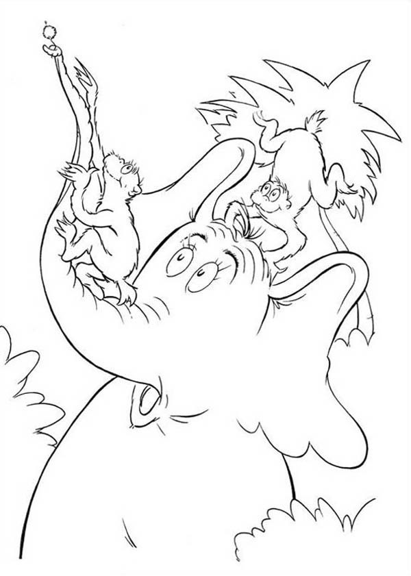 Horton, : The Wickershams Try to Take Flower from Horton Hears a Who Coloring Pages