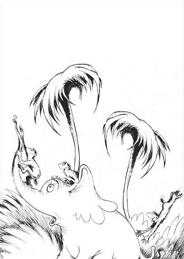 Horton, : The Wickershams Try to Take Flower from in Horton Hears a Who Coloring Pages