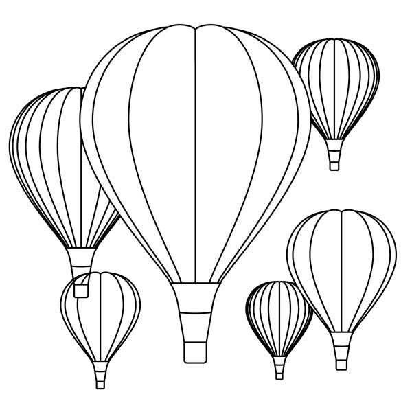 Hot Air Balloon, : Turks Hot Air Balloon Show Coloring Pages