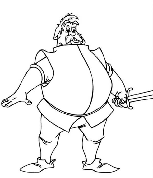 Merlin the Wizard, : A Knight Who Want to Fight Merlin the Wizard Coloring Pages