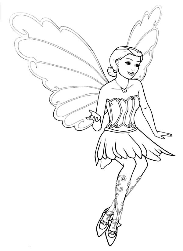 Barbie Mariposa, : Adventure of Barbie Mariposa Coloring Pages