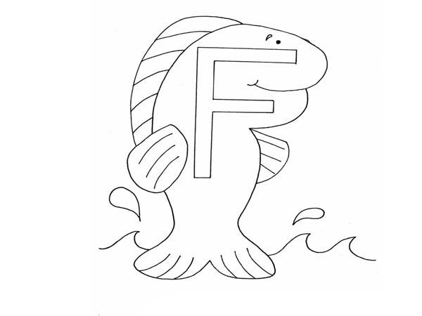 f for fish coloring pages - photo #43