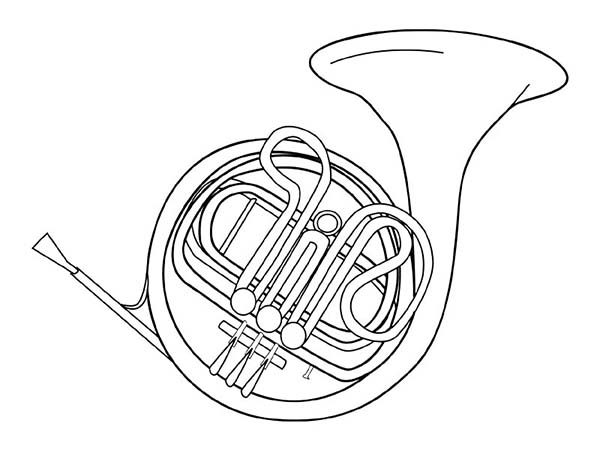 Musical Instruments, : Amazing Musical Instruments Coloring Pages