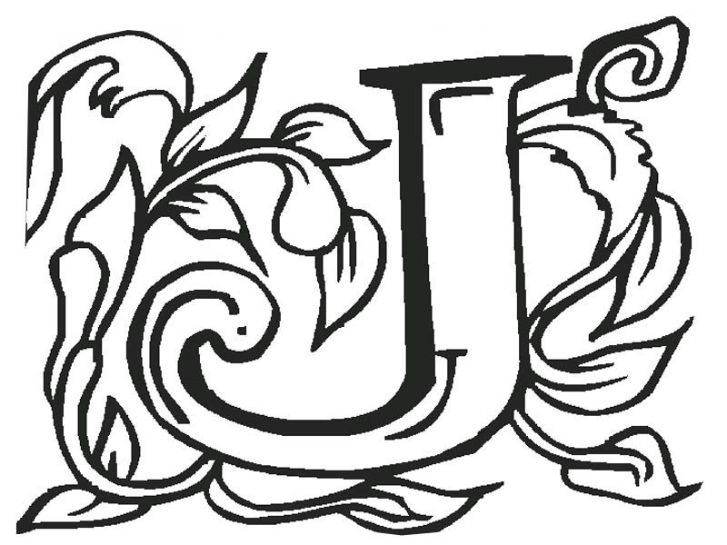 Letter J Art Coloring Page PageFull Size Image